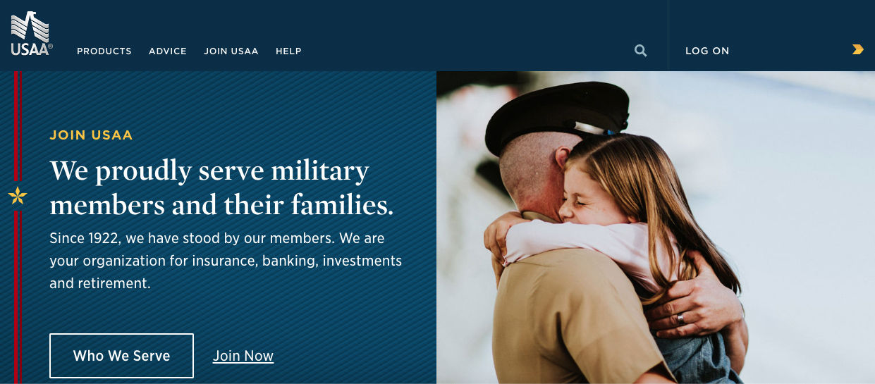 USAA Front Page